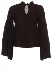 Kocca |  Blouse with wide sleeves Malene | black  | Picture 1