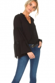 Kocca |  Blouse with wide sleeves Malene | black  | Picture 4
