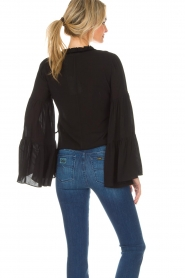 Kocca |  Blouse with wide sleeves Malene | black  | Picture 7
