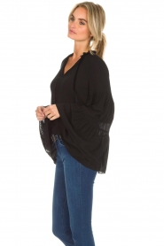 Kocca |  Blouse with wide sleeves Malene | black  | Picture 5