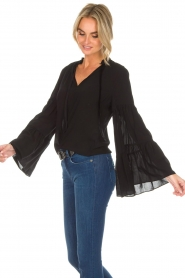 Kocca |  Blouse with wide sleeves Malene | black  | Picture 6
