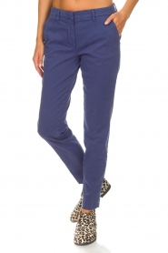 MASONS |  Chino pants New York | blue  | Picture 4
