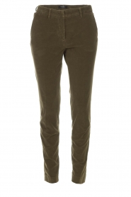 MASONS | Chino broek New York Velvet | groen