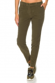 MASONS |  Chino pants New York Velvet | green  | Picture 3