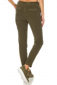 MASONS |  Chino pants New York Velvet | green  | Picture 5