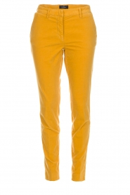MASONS |  Chino pants New York Velvet | yellow  | Picture 1