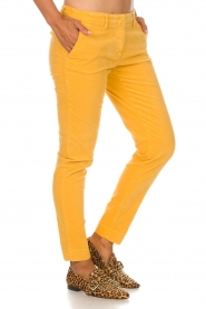 MASONS |  Chino pants New York Velvet | yellow  | Picture 4