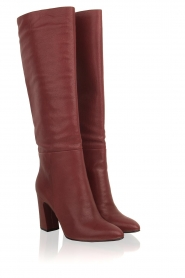 What For |  Leather boots Jess | red  | Picture 5
