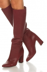 What For |  Leather boots Jess | red  | Picture 3