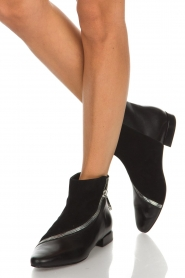 What For |  Leather ankle boots Jim | black   | Picture 2
