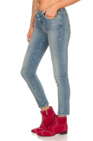 7 For All Mankind |  Cropped slim illusion jeans Pyper | blue  | Picture 5