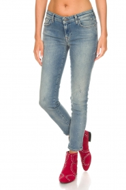 7 For All Mankind | Cropped slim illusion jeans Pyper | blauw  | Afbeelding 4