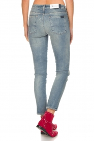 7 For All Mankind |  Cropped slim illusion jeans Pyper | blue  | Picture 6