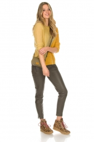Munthe | Wollen trui Sylvia | geel  | Afbeelding 3