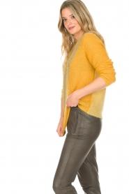 Munthe | Wollen trui Sylvia | geel  | Afbeelding 4