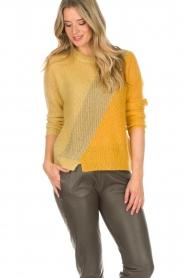Munthe | Wollen trui Sylvia | geel  | Afbeelding 2