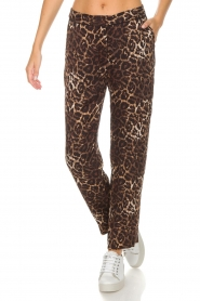 Munthe |  Pants Viool | animal print  | Picture 3