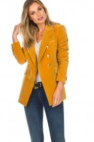 Hunkydory |  Velvet blazer Ivory | yellow  | Picture 2