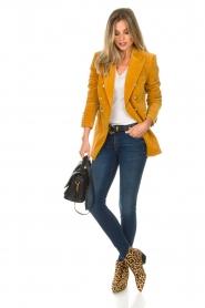 Hunkydory |  Velvet blazer Ivory | yellow  | Picture 3