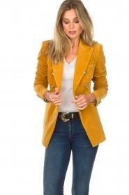 Hunkydory |  Velvet blazer Ivory | yellow  | Picture 4