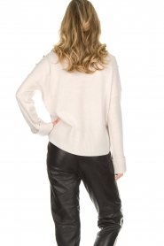 Hunkydory |  Turtleneck sweater with golden buttons Lily | natural  | Picture 6