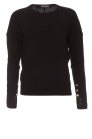 Hunkydory |  Sweater with golden buttons Levi | black   | Picture 1