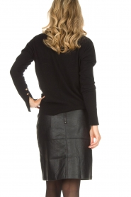 Hunkydory |  Sweater with golden buttons Levi | black   | Picture 5