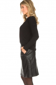 Hunkydory |  Sweater with golden buttons Levi | black   | Picture 4