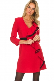 Atos Lombardini |  Dress Maribella | red  | Picture 5