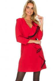 Atos Lombardini |  Dress Maribella | red  | Picture 4