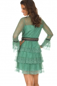 Atos Lombardini   Kanten jurk Sonelle   groen    Afbeelding 6
