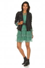 Atos Lombardini   Kanten jurk Sonelle   groen    Afbeelding 7