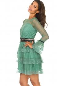 Atos Lombardini   Kanten jurk Sonelle   groen    Afbeelding 5
