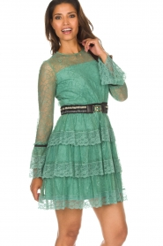 Atos Lombardini |  Lace dress Sonelle | green  | Picture 7