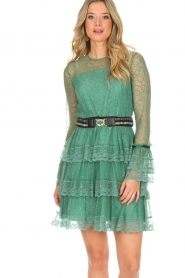 Atos Lombardini |  Lace dress Sonelle | green  | Picture 2