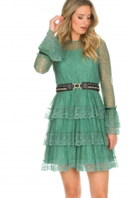Atos Lombardini |  Lace dress Sonelle | green  | Picture 5