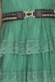 Atos Lombardini |  Lace dress Sonelle | green  | Picture 9