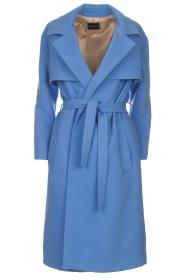 Atos Lombardini |  Coat Arianna | blue  | Picture 1