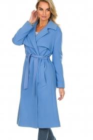 Atos Lombardini |  Coat Arianna | blue  | Picture 2