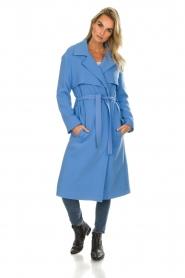 Atos Lombardini |  Coat Arianna | blue  | Picture 3