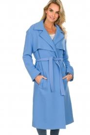 Atos Lombardini |  Coat Arianna | blue  | Picture 6