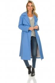 Atos Lombardini |  Coat Arianna | blue  | Picture 7