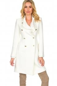Atos Lombardini |  Coat Norella | white  | Picture 2