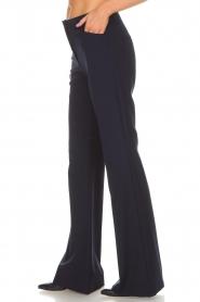 Atos Lombardini | Flared pantalon Notte | blauw  | Afbeelding 4