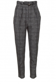 Atos Lombardini |  Checkered trousers Sevilla | grey  | Picture 1