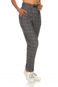 Atos Lombardini |  Checkered trousers Sevilla | grey  | Picture 4