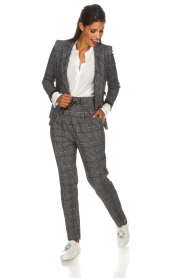 Atos Lombardini |  Checkered trousers Sevilla | grey  | Picture 3