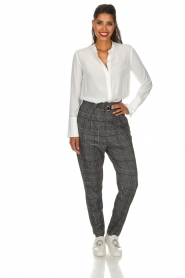 Atos Lombardini |  Checkered trousers Sevilla | grey  | Picture 6