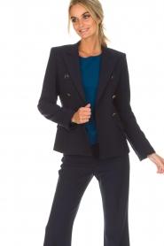 Atos Lombardini | Klassieke blazer Matilda | blauw  | Afbeelding 2