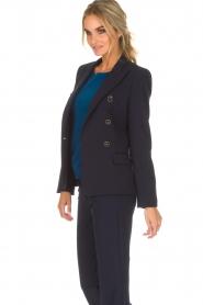 Atos Lombardini | Klassieke blazer Matilda | blauw  | Afbeelding 4